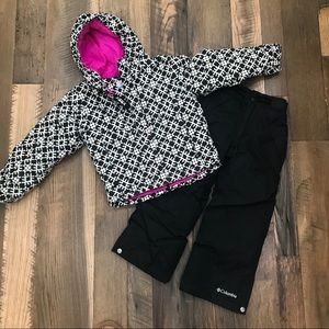 Columbia 2pc Snow Coat & Pants Girl 4-5